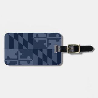 Maryland Flag Monochromatic luggage tag-navy blue Bag Tag
