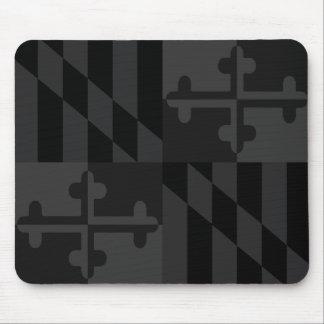 Maryland Flag Monochromatic mouse pad - black