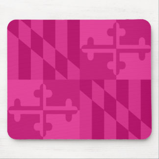 Maryland Flag Monochromatic mouse pad - hot pink