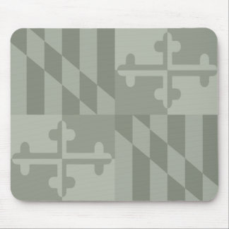 Maryland Flag Monochromatic mouse pad - olive