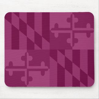 Maryland Flag Monochromatic mouse pad - raspberry