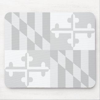 Maryland Flag Monochromatic mouse pad - white