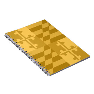 Maryland Flag Monochromatic note book - yellow