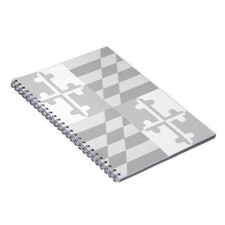 Maryland Flag Monochromatic notebook-*CUSTOMIZABLE Spiral Notebook