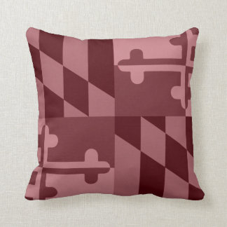 Maryland Flag Monochromatic pillow - maroon