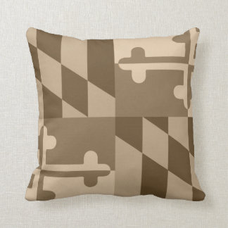Maryland Flag Monochromatic pillow - tan