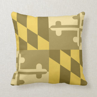 Maryland Flag Monochromatic pillow - yellow