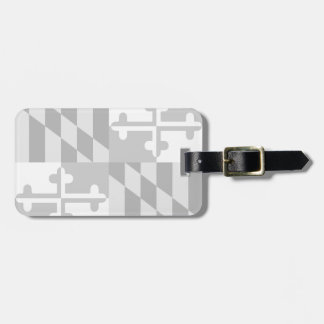 Maryland Flag Monochromatic tag- *CUSTOMIZABLE* Luggage Tag