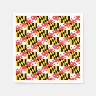 Maryland Flag Napkins Disposable Serviette