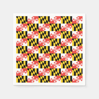 Maryland Flag Napkins Paper Napkins