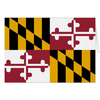 Maryland Flag Note Card