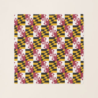Maryland Flag Pattern Abstract Scarf