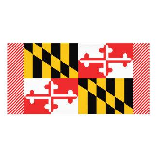 Maryland Flag Customized Photo Card