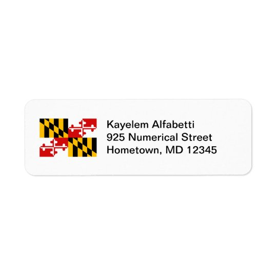Maryland Flag Return Address Label