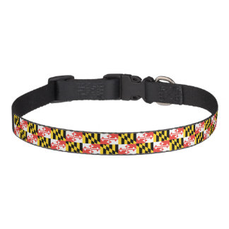 Maryland Flag Small Medium and Large Dog Collar