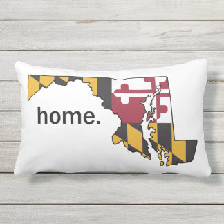 Maryland Flag/State home pillow - white