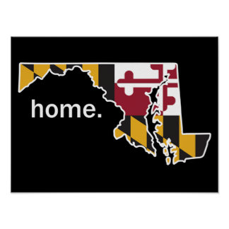 Maryland Flag/State Home poster