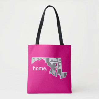 Maryland Flag/State home tote - hot pink