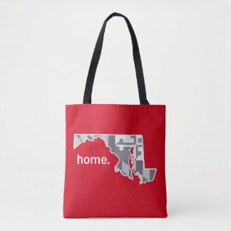 Maryland Flag/State home tote - red