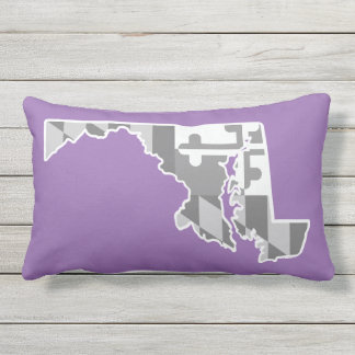 Maryland Flag/State pillow - purple