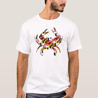 Maryland Flag Wavy Crab T-Shirt