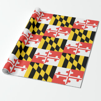 "Maryland Flag Wrapping Paper, 30"" x 6' Wrapping Paper"