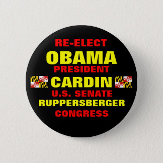Maryland for Obama Cardin Ruppersberger 6 Cm Round Badge