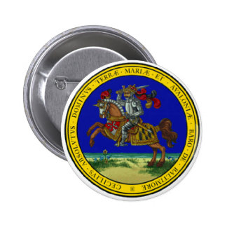 Maryland Great Seal 6 Cm Round Badge
