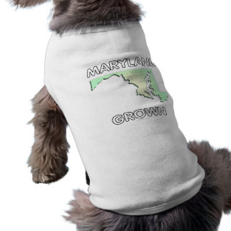 Maryland Grown Sleeveless Dog Shirt