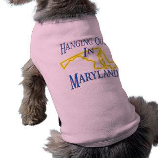 Maryland - Hanging Out Sleeveless Dog Shirt