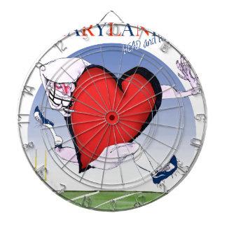 maryland head heart, tony fernandes dartboard