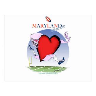 maryland head heart, tony fernandes postcard