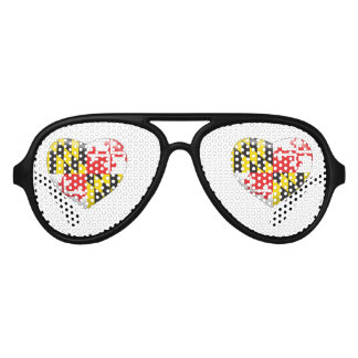 Maryland Heart Aviator Sunglasses