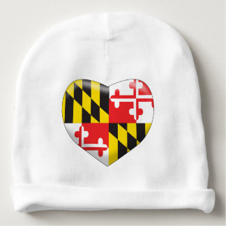 Maryland Heart Baby Beanie