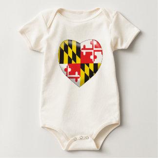 Maryland Heart Baby Bodysuit