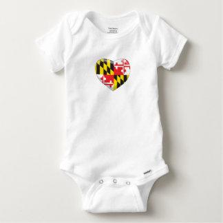 Maryland Heart Baby Onesie