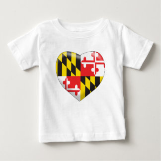 Maryland Heart Baby T-Shirt