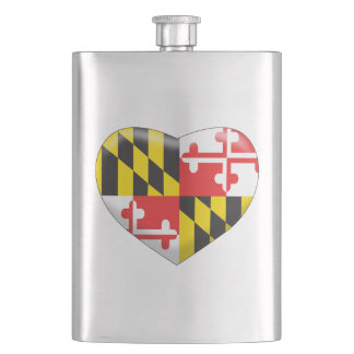 Maryland Heart Hip Flask