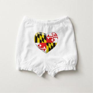Maryland Heart Nappy Cover