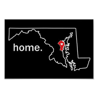 Maryland Home County poster - Anne Arundel Co.