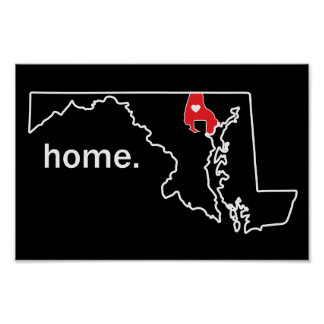 Maryland Home County poster - Baltimore Co.