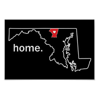 Maryland Home County poster - Carroll Co.