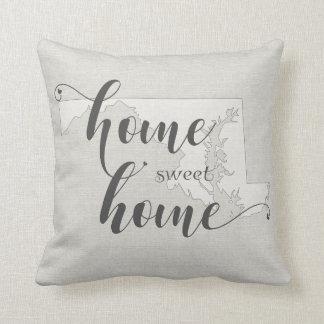 Maryland - Home Sweet Home burlap-look Cushion