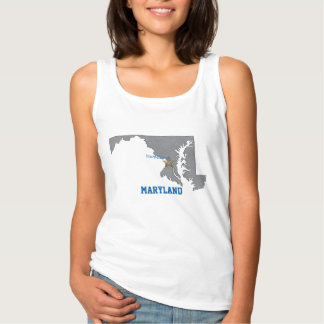 MARYLAND Home Town Personalized Map Singlet
