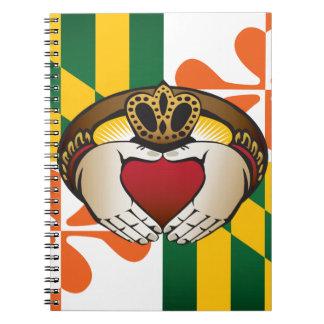 Maryland Irish Claddagh Flag Notebook