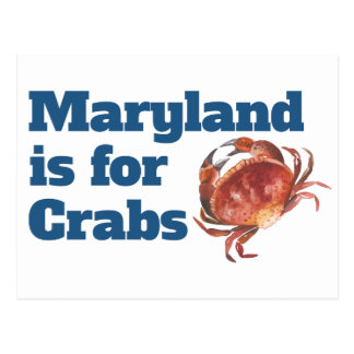Maryland is for Crabs Postcards