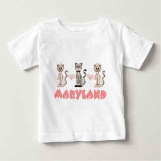 Maryland Kitty Cat Gift Baby T-Shirt