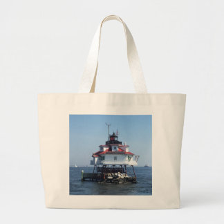 Maryland Lighthouse Large Tote Bag