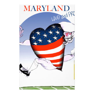 maryland loud and proud, tony fernandes stationery