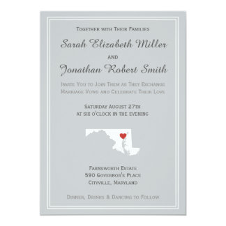 Maryland Love - Customizable Wedding Invitation